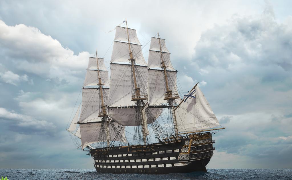 Кого чествовали прибывшие в Феодосию шесть военных кораблей во главе с флагманом
